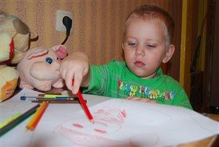 Пишу и рисую для Деда Мороза