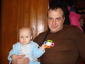 Славик Илюхин с моим сыном Гошей
