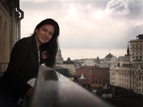 на крыше Большого театра