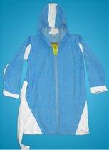 халат голубой