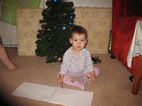 Машуля пишет письмо деду Морозу