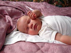 Сам уснул......устал))) 3,5 мес