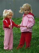 ' кукла' Яна с куклой Женей;)