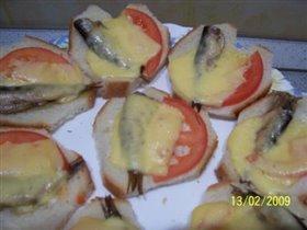 Обычные бутербродики, оформленные сердечками