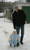 Ой, папа, смотри сколько снега