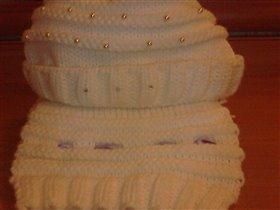 Комплект шапка и шарф полушерсть - 400 руб. Если купите пальто ORBY, то комплект отдам в подарок к пальто.