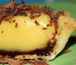 цитрусовый крем с горьким шоколадом
