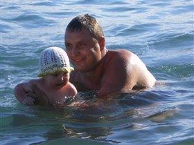 Люблю море! И папу!