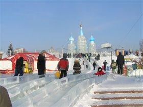 У нас в Сибири горки крутые, как и морозы.