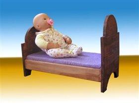 кроватка для кукол, ручная работа
