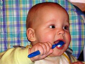 когда будет больше зубов - вот так буду чистить