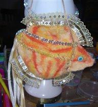 Золотая рыбка - кармашек. Для исполнения мечтаний.