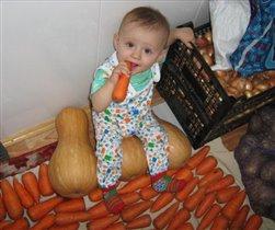 Помогаю заготавливать овощи