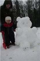 Даня папе помогал,просто рядом он стоял)