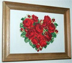 сердце из роз от ЕМС