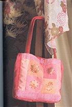 шелковая сумка с цветами