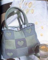 сумка с сердечками