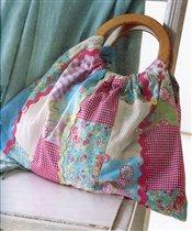 сумка с деревянными пучками