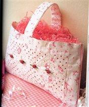 сумка с розочками