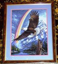 Орел и радуга.