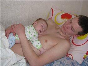 как сладко спится на папе