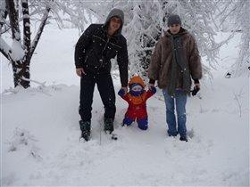Мама,Папа и дочка Ульяна