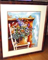 'Цветы на стуле' (34735) by Lanarte