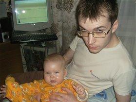 Даша и папа