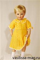 вяжем детям: платье крючком