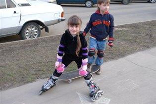 Весна. Учимся кататься на скейте и роликах!