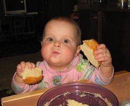Хитренькие, сами так курочку едите, а мне один хлебушек.