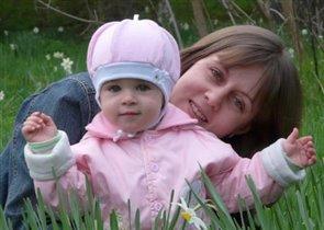 Мы с доченькой в цветочках!