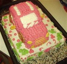 Торт-машинка на годовасию сынишки!