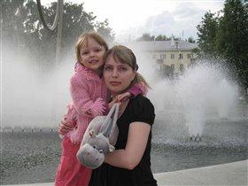 С дочкой Катеринкой
