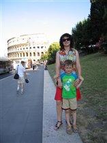 В Риме с сыном.