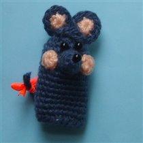Мышка. пальчиковая кукла