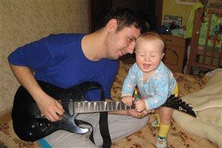 юный гитарист...