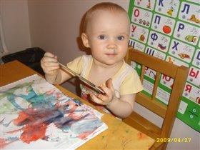 Обожаю рисовать! Любит ли мама меня отмывать?