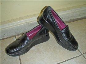 Туфли-мокасы женские б/у