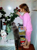 Все девушки любят цветочки...
