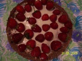 Торт клубничный по рецепту kuzkina_mama