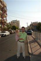 школьная улица и папа с Анькой