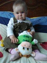 НАСТЮШКА и ее любимая игрушка - Корова