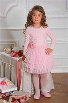 Платье МЛ498/1-128 розовое