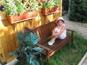 девочка в панамочке