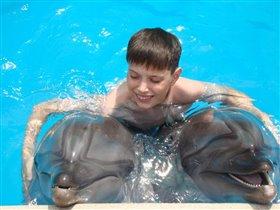 На дельфинах я катался и нисколько не боялся!!