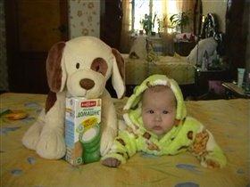 Любимая плющевая собака моей дочки