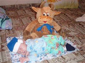 спать пора, не спит бычок