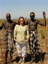 Племя Мурси, граница Эфиопии и Кении