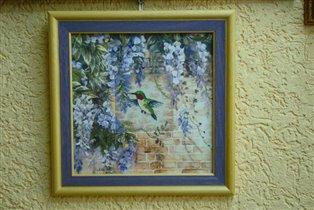 Daydreams Hummingbird and Wisteria